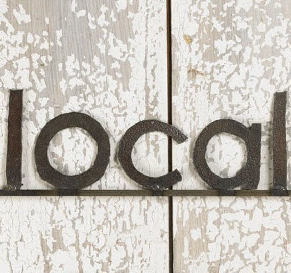 Wall Sign LOCAL Decorative Signage Free Shipping