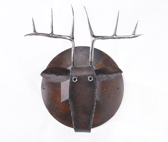 Wall Sculpture Deer Head Art Metal