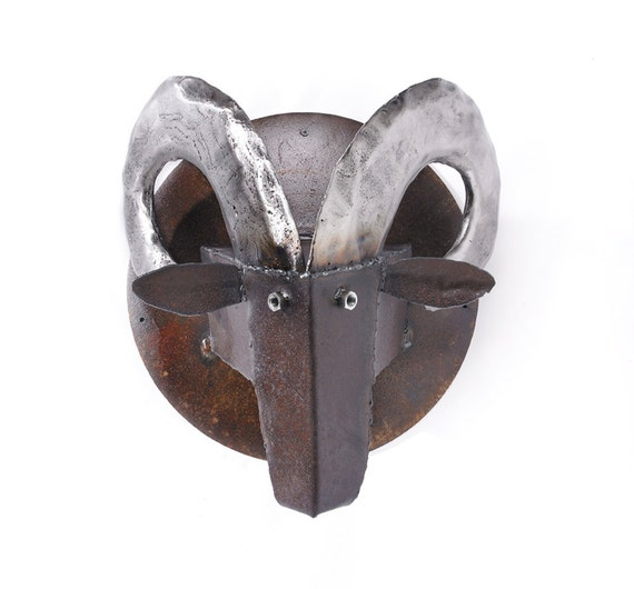 Wall Sculpture Ram's Head Metal Art