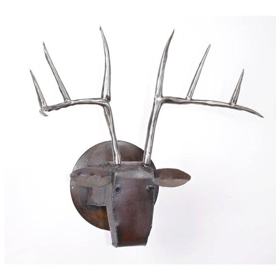 Large Deer Head Wall Sculpture Large Wall Art Fireplace Art