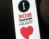 Valentine card (printable) - Nom heart card