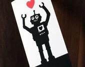 Valentine card (printable) - Robot card