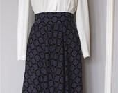Vintage 70s LITERARY DARLING one-piece dress