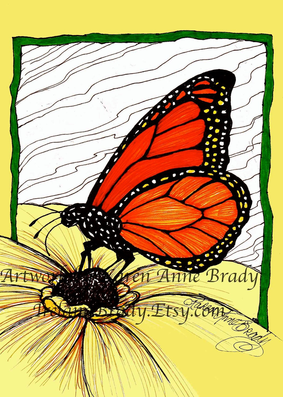 monarch butterfly sketch download