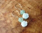 serpentine flower earrings