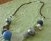modern Betty Rubble necklace