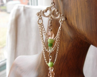 springtime chandelier earrings