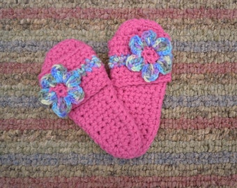 Bright Pink Slipper - Sandals - Women, Children -Crochet