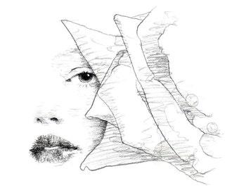 Rose / Admiration - original drawing