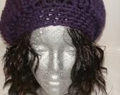 CUSTOM ORDER FOR Lilli and Sonya - Luscious Purple Beret (DARIA)