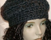 ASHLEIGH Slouchy Beanie Charcoal - US FREE SHIPPING