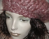 RESERVED For Debra- Daria Beret -  FIG in Soft Mohair -Free US Shipping