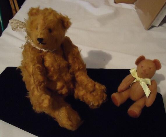 Vintage Teddy Bear Lot Miniature Artist Ooak Jointed Joy McClenaghan Two Bears