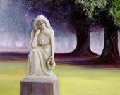 PRAYERFUL THOUGHTS -  Framed Original Oil Painting 18 x 20