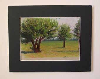 Original Plein Air Pastel Painting SUMMER DAY