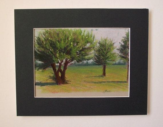 Original Plein Air Pastel Painting SUMMER DAY