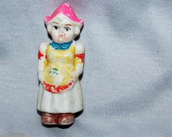 Vintage / Bisque Doll / dutch girl / frozen charlotte / penny doll / vintage dolls