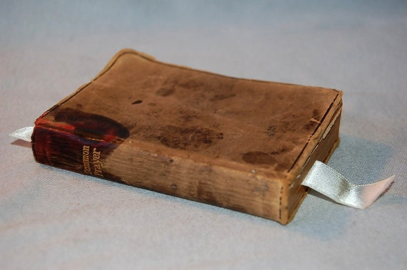 Vintage Leather Book of Common Prayer Antique 1868