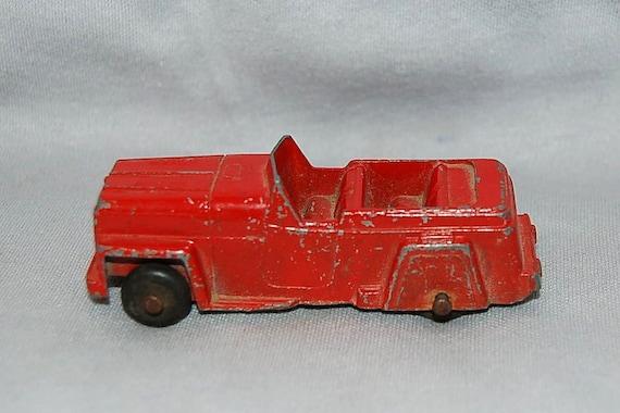 Vintage tootsie toy car truck red