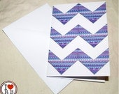 Printed card - patterned chevrons