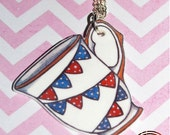 Jubilee teacup necklace