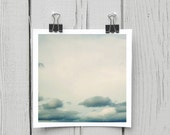 Fine art photograph (clouds 003) contemporary blue cloud nursery art