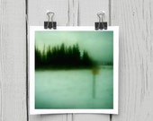 Fine art photograph (turquoise 003) whimsical mint forest home decor