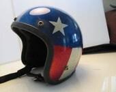 vintage metal flake Easy rider Evel Knievel helmet keystone 500