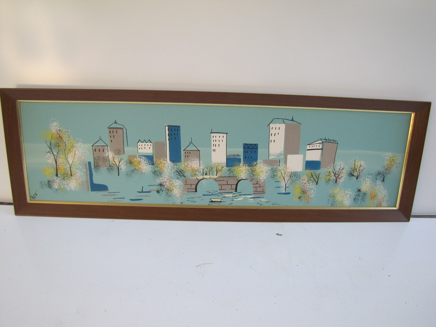 Large 1950 S Carlo Of Hollywood Painting Mid Century By