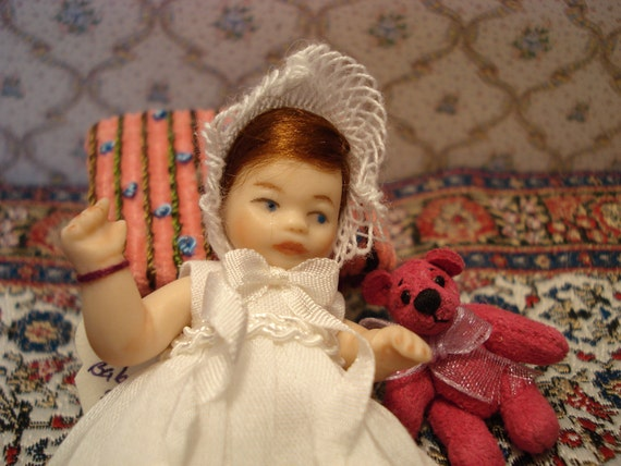 Baby Beth Miniature Porcelain Doll Minis By Nana Original OOAK