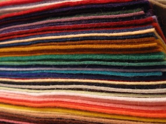 Wool Felt Sheets  10 sheets- 9x12 inch