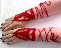 Lace  gloves -The lotus flower,wedding,prom,bridal, vampire,cuff,organic  cotton -Ready  to  Ship
