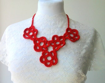 Crocheted  necklace  -Ready  to  Ship