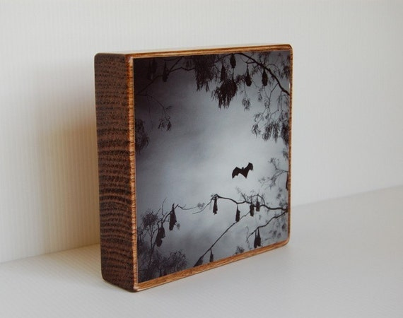 Twilight - 5x5 digital photo mounted on wood block