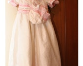 Pink and White Christening Gown