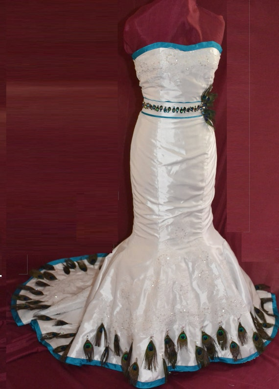 Items Similar To Peacock Inspired Wedding Dress On Etsy