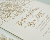 Letterpress Invitation, St. Francis Design