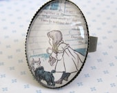 We Are Not In Kansas Anymore Ring - The Wizard Of Oz -Glass Jewelry - Image Jewelry - Storybook Jewelry - Cameo Jewelry