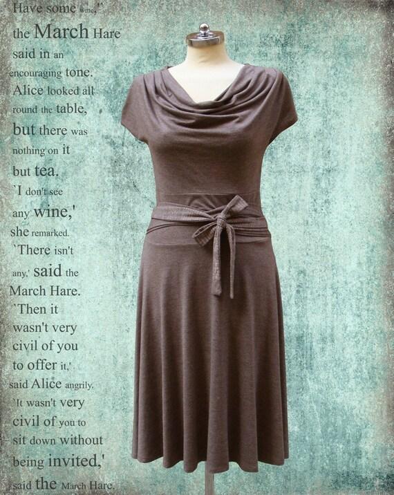 SALE - Feminine Brown Alice Dress (from Alice in wonderland)