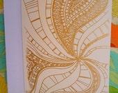 Golden Paisley Swirls Card