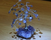 Amethyst Gemstone Tree, Wire Wrapped - Spirituality Metaphysical Healing, Amethyst Cluster Natural Raw