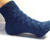PDF Knit Pattern Aran Bed Socks