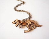 Dinosaur Necklace by Vectorcloud