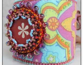 Kit Bead Embroidery - Bohemian Rhapsody Cuff -- Melon