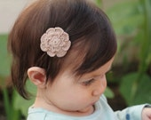 Eco friendly mushroom color bamboo thread crochet baby hair clip