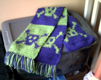 Skull and crossbones scarf- Made-to-order slot