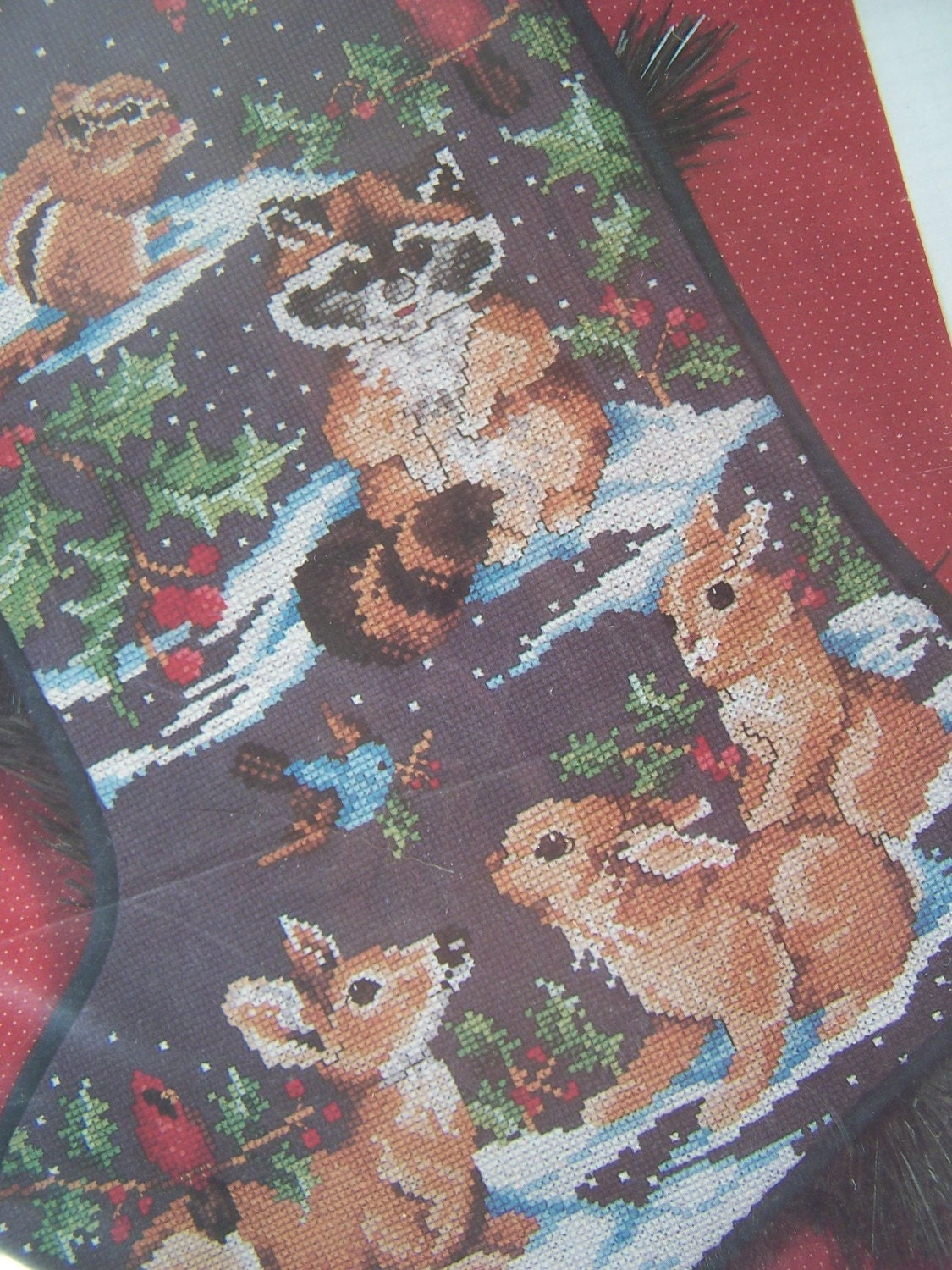 Christmas Stocking Cross Stitch Country Animals