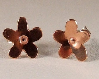 Copper Forget Me Not Studs