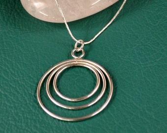 Triple Ring Silver Pendant