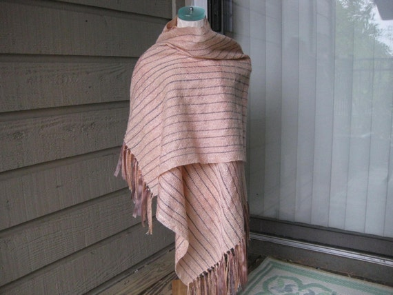 Peach and Chocolate Mousse Shawl